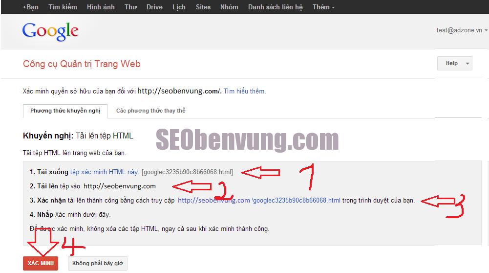 huong dan google tool