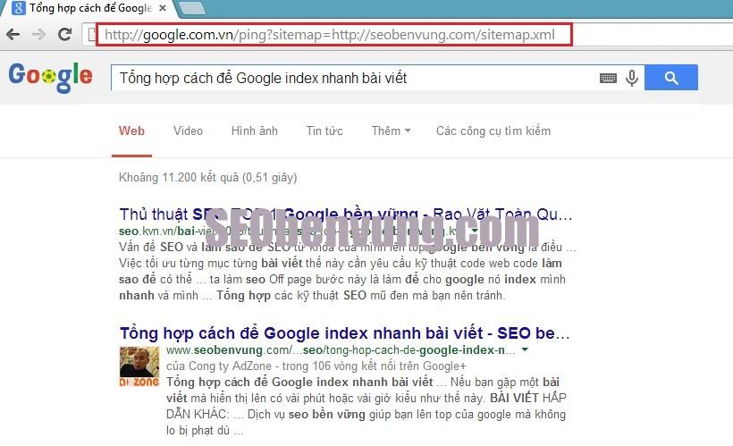 google index nhanh