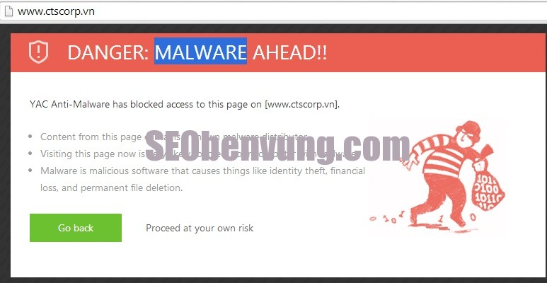 website bị malware