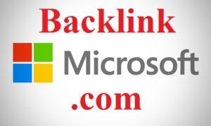 backlink trên microsoft