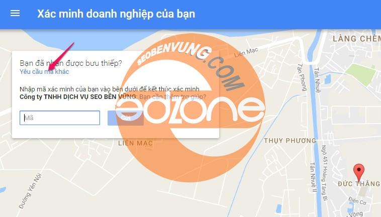 xác minh dịch vụ seo local